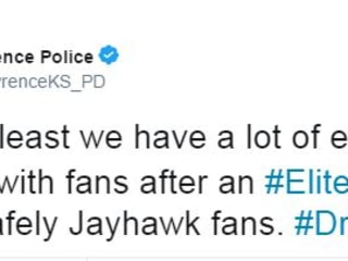 Police in Lawrence Have Grown Bitter to Kansas Tournament Losses