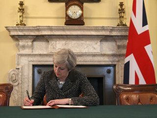 British PM Theresa May Signs Letter Invoking Article 50, 'Brexit' Process