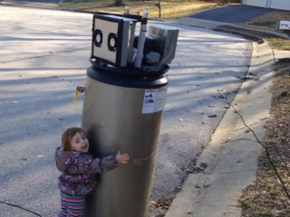 Girl Sees 'Wuvable' Robot in Water Heater Trash
