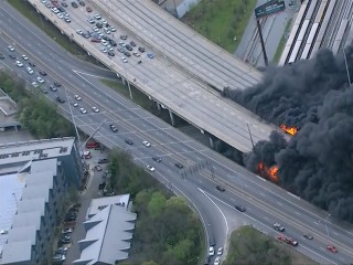 Bridge Collapses in Atlanta Freeway Fire During Rush Hour