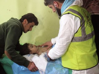 Rescuers Treat Dozens in Syria Chemical Attack