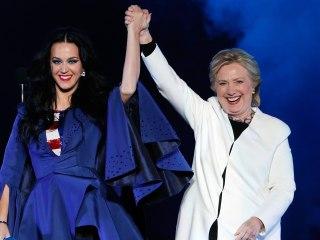 Hillary Clinton Models Namesake Heels Designed by Katy Perry