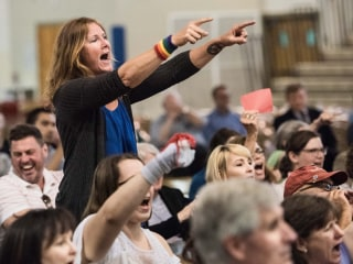 Rep. Joe Wilson's 'You Lie' Line Used Against Him at Contentious Town Hall