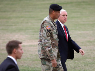 Vice President Mike Pence Visits Demilitarized Zone Between Koreas