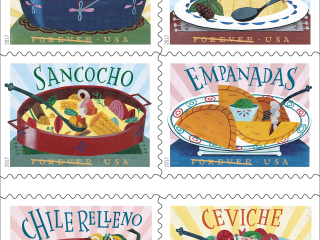 Empanadas or Flan? New 'Delicioso' U.S. Stamps Celebrate Latino Dishes
