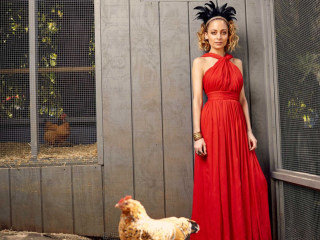 Nicole Richie has an actual chicken coop in her backyard