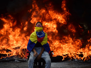 Venezuela's Opposition Activists Protest in Caracas as Unrest Enters Fourth Week