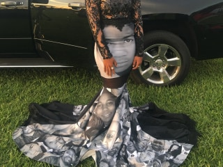 Teen Wears Black Lives Matter Inspired Prom Dress