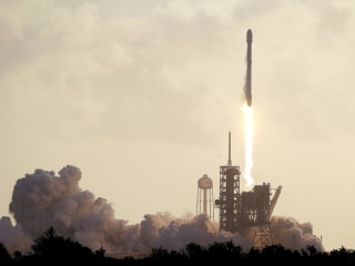 SpaceX Falcon 9 Rocket Lifts Off on Classified Mission for U.S.
