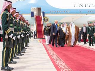 Donald Trump Lands in Saudi Arabia on First Overseas Visit of Presidency