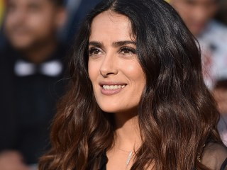 Salma Hayek sports stunning pink hair at 2017 Cannes Film Festival