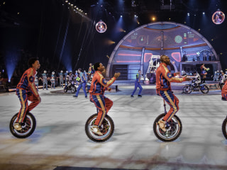 Black Unicycle Basketball Stars Ride Into Ringling Bros. History