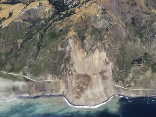 Massive Rockslide Buries Stretch of California's Highway 1