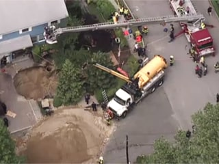Gigantic Sinkhole Swallows Man Alive After Cesspool Collapses in New York
