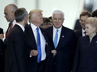 Trump Pushes Montenegro's Prime Minister at NATO Summit
