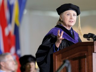 Hillary Clinton Attacks Donald Trump at Wellesley College Graduation