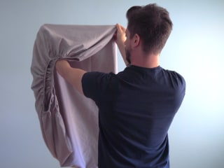 This is the best way to fold a fitted sheet