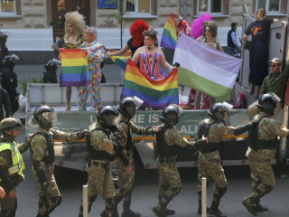 Kiev Hosts Largely Incident-Free Gay Pride March