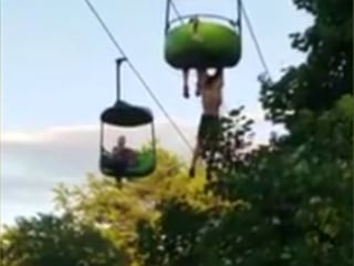 Man Catches Teen Falling From Amusement Park Ride: 'It's OK to Let Go!'