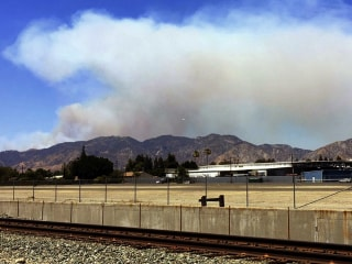 Evacuations Ordered as Fire Closes Southern California Freeway