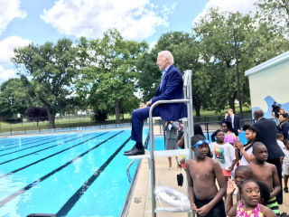 Making a Splash: Joe Biden Returns to His Old Lifeguard Chair