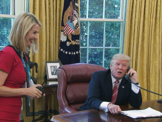 Trump Compliments Reporter's 'Nice Smile' During Call With Irish Prime Minister
