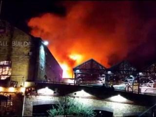 Fire Destroys Part of London's Famed Camden Market