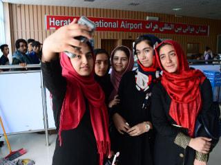 Afghan Girls Take Off for U.S. Robotics Competition After Visa Drama