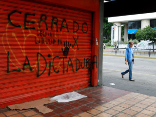Opposition Stages National Work, Business Strike in Venezuela