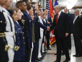 Trump at Pentagon: ISIS Is 'Falling Fast'