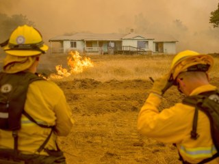 California Wildfire Threatens Gold Rush-Era Towns