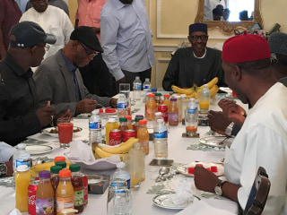 Nigeria President Buhari Pictured in London After Three Months Off Grid