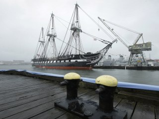 Historic USS Constitution, 'Old Ironsides,' Returns to Boston Waters After Two-Year Restoration