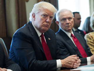 Trump Rips Into Jeff Sessions as Being 'Very Weak' on Clinton, Leakers