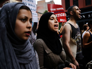 U.S. Muslims See Friendly Neighbors, But a Foe in White House