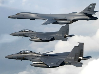 U.S. Fighter Jets Stage Show of Force in Response to North Korea, Pentagon Says