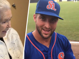 Watch Tim Tebow make this grandmother's day with a sweet shout-out