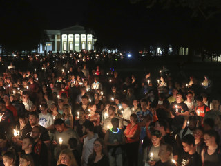 Hundreds March Through University of Virginia to Protest Hate Groups