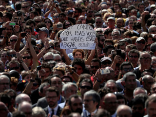 Scared but Defiant, Barcelona Marches to Reclaim City From Terrorists