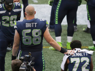 NFL Star Sits Again During Anthem; Teammates Show Support