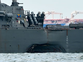 USS John S. McCain: Divers Search for 10 Missing Sailors After Warship Crash