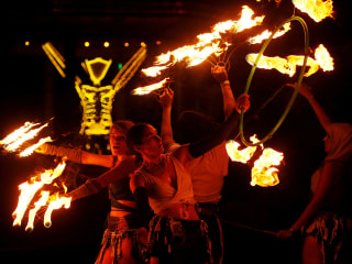 Burning Man: Fire and Dust Draw 70,000 People to Nevada Desert