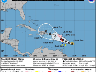 Maria, Now a Hurricane, Promises More Damage for the Caribbean