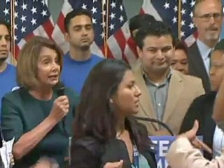 Nancy Pelosi Shouted Down by Immigration Activists at News Conference