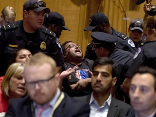 Capitol Hill Protests Interrupt GOP Health Care Bill Hearing