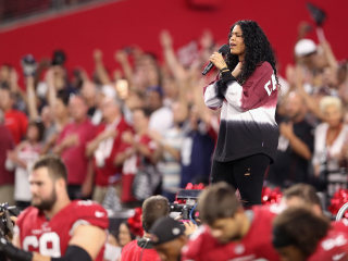Was Jordin Sparks Sending Trump a Message at Cowboys-Cardinals Game?