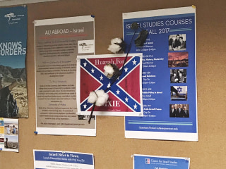 American University Finds Confederate Flag Signs Posted After Anti-Racist Presentation