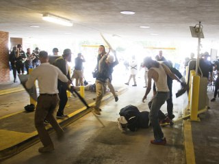 Black Man Beaten at Charlottesville Rally Surrenders to Police on Warrant