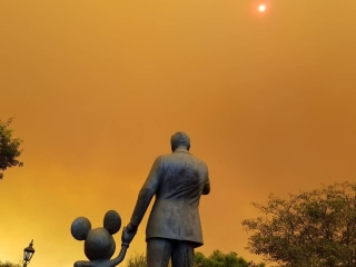 Orange Skies Shroud Disneyland as Wildfires Loom