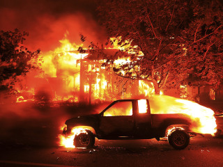 Massive Wildfires Consume Homes Across Northern California